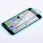 Двухкомпонентный силиконовый матовый полупрозрачный чехол горизонтальная книжка с акриловой полноразмерной транспарентной смарт крышкой для Meizu M2 Note