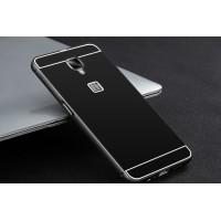 Двухкомпонентный чехол c металлическим бампером с поликарбонатной накладкой для OnePlus 3  Черный