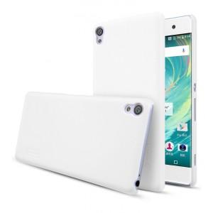 Пластиковый непрозрачный матовый нескользящий премиум чехол для Sony Xperia XA Белый