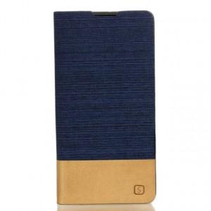 Чехол горизонтальная книжка подставка текстура Линии на силиконовой основе с отсеком для карт для Sony Xperia XA