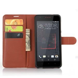 Чехол портмоне подставка на силиконовой основе на магнитной защелке для HTC Desire 825