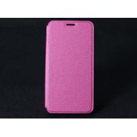 Чехол горизонтальная книжка подставка на силиконовой основе с отсеком для карт для HTC Desire 825 Розовый