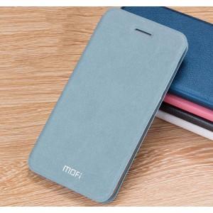 Винтажный чехол горизонтальная книжка подставка на силиконовой основе для Xiaomi RedMi 3 Pro/3S Голубой