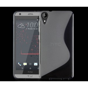 Силиконовый матовый полупрозрачный чехол с дизайнерской текстурой S для HTC Desire 825