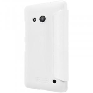 Чехол горизонтальная книжка на пластиковой нескользящей премиум основе с тканевым покрытием для Microsoft Lumia 550