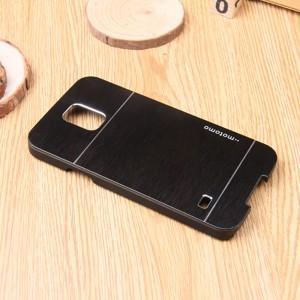 Пластиковый непрозрачный матовый чехол текстура Металлик для Samsung Galaxy S5 Mini  Черный