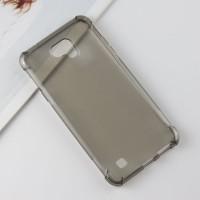 Силиконовый матовый полупрозрачный чехол с усиленными углами для LG X cam  Серый