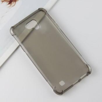 Силиконовый матовый полупрозрачный чехол с усиленными углами для LG X cam