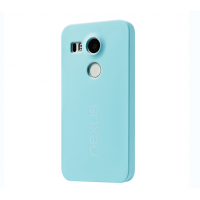 Оригинальный силиконовый матовый непрозрачный чехол для Google LG Nexus 5X Голубой