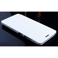Чехол горизонтальная книжка на пластиковой основе для Lenovo S60  Белый