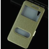 Чехол горизонтальная книжка подставка на пластиковой основе с окном вызова и свайпом на магнитной защелке для Lenovo A6000/A6010