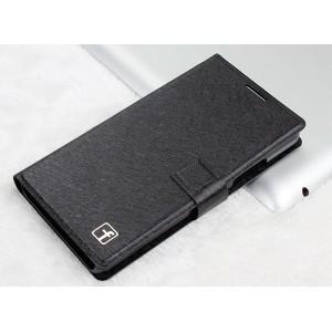 Текстурный чехол горизонтальная книжка подставка на пластиковой основе на магнитной защелке для Lenovo A6000/A6010 Черный