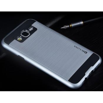 Противоударный двухкомпонентный силиконовый матовый непрозрачный чехол с поликарбонатными вставками экстрим защиты для Samsung Galaxy J5