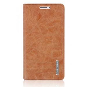 Винтажный чехол горизонтальная книжка подставка на пластиковой основе с отсеком для карт на присосках для Samsung Galaxy J5 Коричневый