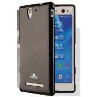 Силиконовый глянцевый непрозрачный чехол для Sony Xperia C4