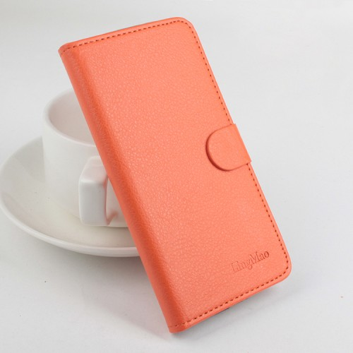 Чехол портмоне подставка на силиконовой основе на магнитной защелке для Xiaomi RedMi 3 Pro/3S Фиолетовый