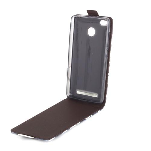 Чехол вертикальная книжка на силиконовой основе с полноповерхностным принтом на магнитной защелке для Xiaomi RedMi 3 Pro/3S