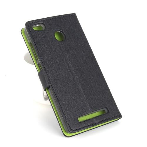Текстурный чехол горизонтальная книжка подставка на силиконовой основе с отсеком для карт на магнитной защелке для Xiaomi RedMi 3 Pro/3S Белый