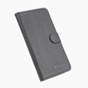 Текстурный чехол горизонтальная книжка подставка на силиконовой основе с отсеком для карт на магнитной защелке для Xiaomi RedMi 3 Pro/3S Черный