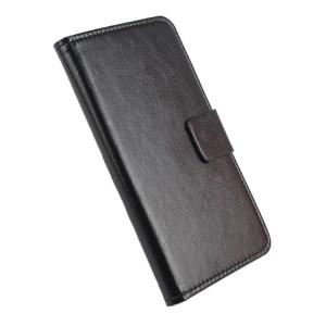 Глянцевый чехол горизонтальная книжка подставка на силиконовой основе с отсеком для карт на магнитной защелке для Xiaomi RedMi 3 Pro/3S Черный