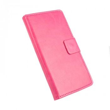 Глянцевый чехол горизонтальная книжка подставка на силиконовой основе с отсеком для карт на магнитной защелке для Xiaomi RedMi 3 Pro/3S Розовый