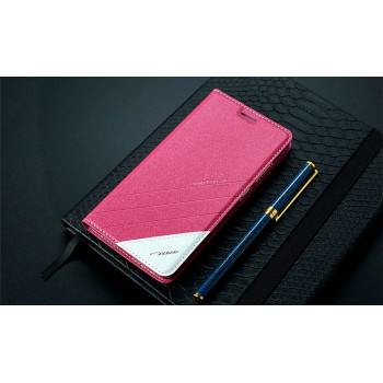 Чехол горизонтальная книжка подставка текстура Линии на силиконовой основе для Xiaomi RedMi 3 Pro/3S Пурпурный