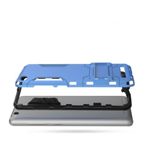 Противоударный двухкомпонентный силиконовый матовый непрозрачный чехол с поликарбонатными вставками экстрим защиты с встроенной ножкой-подставкой для Xiaomi RedMi 3 Pro/3S Белый