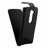 Чехол вертикальная книжка на пластиковой основе на магнитной защелке для LG Leon