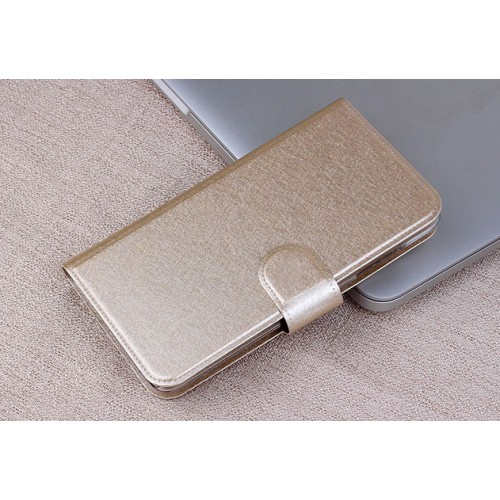 Чехол горизонтальная книжка на пластиковой основе с отсеком для карт текстура Металлик на магнитной защелке для LG Leon