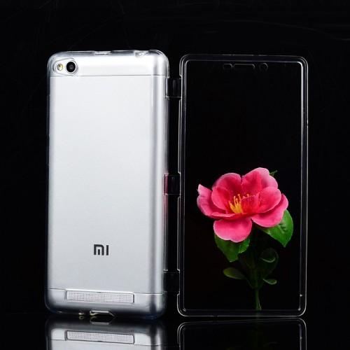 Двухкомпонентный силиконовый матовый полупрозрачный чехол горизонтальная книжка с акриловой полноразмерной транспарентной смарт крышкой для Xiaomi RedMi 3