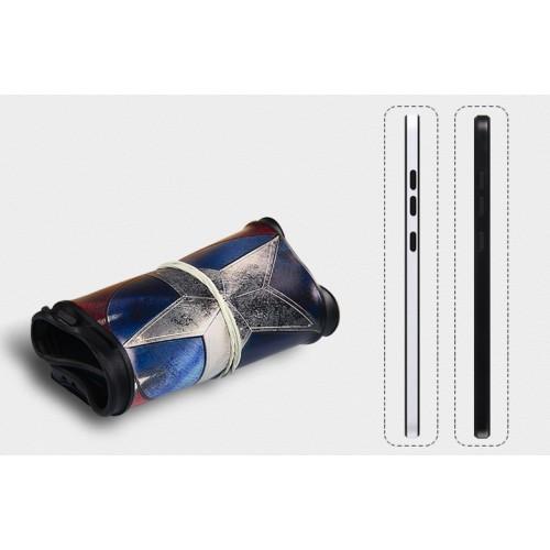 Двухкомпонентный силиконовый матовый непрозрачный чехол с поликарбонатным бампером и принтом для Xiaomi RedMi 3