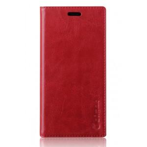 Вощеный чехол горизонтальная книжка подставка на пластиковой основе с отсеком для карт для Xiaomi RedMi 3 Красный