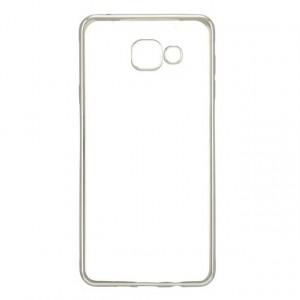 Силиконовый матовый полупрозрачный чехол с текстурным покрытием Металлик для Samsung Galaxy A5 (2016)  Белый