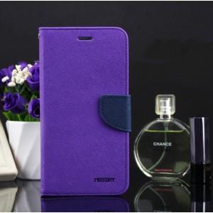Чехол портмоне подставка на силиконовой основе на дизайнерской магнитной защелке для Samsung Galaxy A5 (2016) Фиолетовый