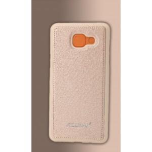 Силиконовый матовый непрозрачный чехол с текстурным покрытием Кожа для Samsung Galaxy A5 (2016)