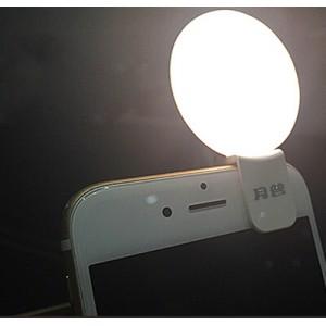 Автономная круглая LED-вспышка 65мАч на клипсе