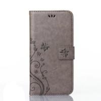 Чехол портмоне подставка текстура Узоры на силиконовой основе на магнитной защелке для Sony Xperia X Серый