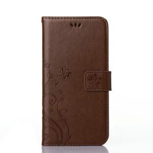 Чехол портмоне подставка текстура Узоры на силиконовой основе на магнитной защелке для Sony Xperia X
