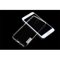 Силиконовый матовый полупрозрачный чехол с улучшенной защитой элементов корпуса (заглушки) для Meizu M3 Note  Белый