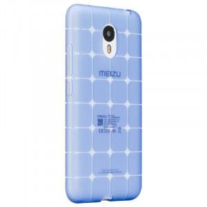 Силиконовый матовый полупрозрачный чехол с текстурным покрытием Узоры для Meizu M3 Note  Синий