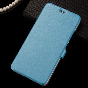 Чехол горизонтальная книжка подставка на пластиковой основе на магнитной защелке для Meizu M3 Note Голубой