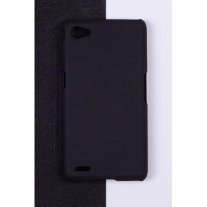 Пластиковый непрозрачный матовый чехол для Philips W6610 Xenium  Черный
