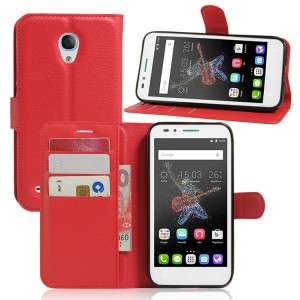 Чехол портмоне подставка на силиконовой основе на магнитной защелке для Alcatel OneTouch Go Play  Красный