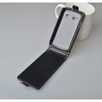 Чехол вертикальная книжка на пластиковой основе на магнитной защелке для Alcatel One Touch Pop C3  Черный