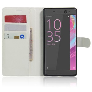 Чехол портмоне подставка на силиконовой основе на магнитной защелке для Sony Xperia XA Ultra  Белый