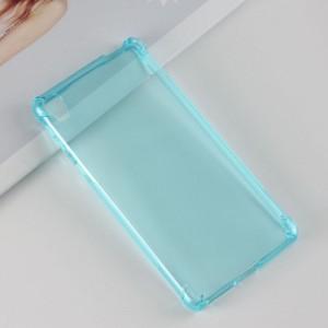 Силиконовый глянцевый полупрозрачный чехол с усиленными углами для Sony Xperia E5