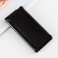 Силиконовый матовый полупрозрачный чехол с усиленными углами для Sony Xperia E5 Черный