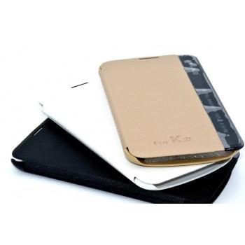 Чехол горизонтальная книжка на пластиковой основе с окном вызова для LG K10