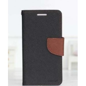 Чехол портмоне подставка на силиконовой основе с тканевым покрытием на дизайнерской магнитной защелке для LG K10