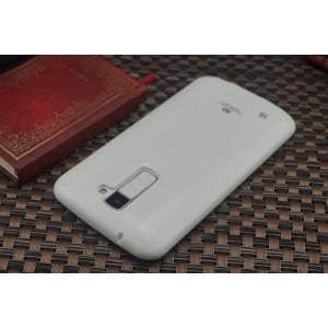 Силиконовый глянцевый непрозрачный чехол для LG K10